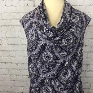 Michael Kors purple paisley blouse